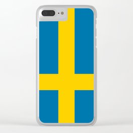 Flag of Sweden - Authentic (High Quality Image) Clear iPhone Case