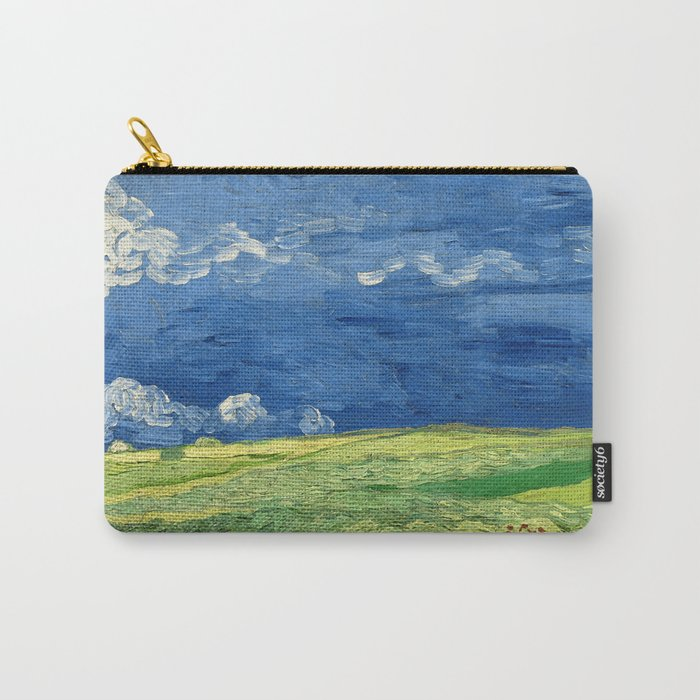Wheatfield Under Thunderclouds by Vincent van Gogh (1890) Carry-All Pouch