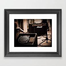 Indie Rock Show Framed Art Print