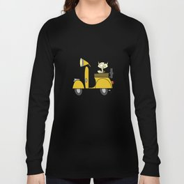 cat on a scooter Long Sleeve T-shirt