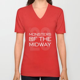Monsters of the Midway Unisex V-Neck