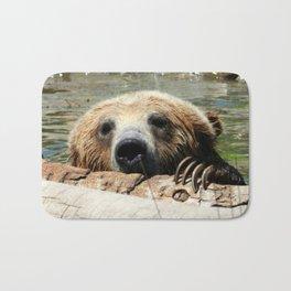 Bearly Hanging On Bath Mat