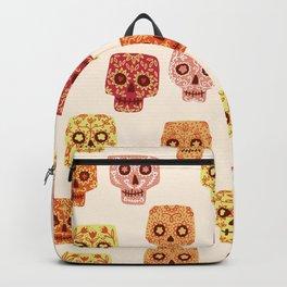 Dia de los Muertos Mexican Decorated Skull Art Backpack