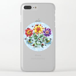 Ladybug Playground on a Summer Day Clear iPhone Case