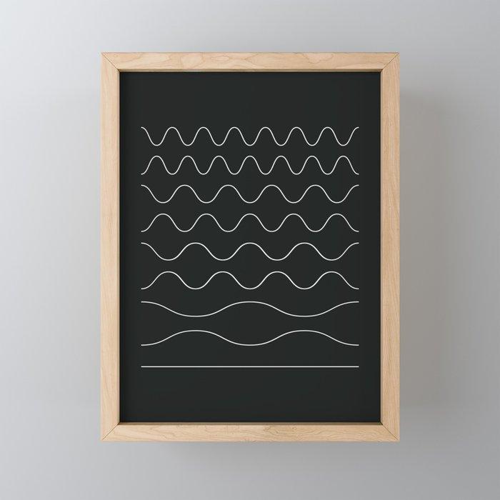 between waves Framed Mini Art Print
