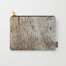 Scratched Wood Carry-All Pouch