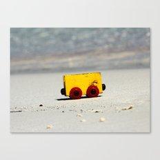 Toy on the beach Canvas Print