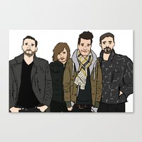 bastille Canvas Prints featuring Bastille by wellsi