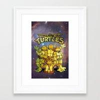 teenage mutant ninja turtles Framed Art Prints featuring Teenage Mutant Ninja Turtles by Nerdy Girl Swag