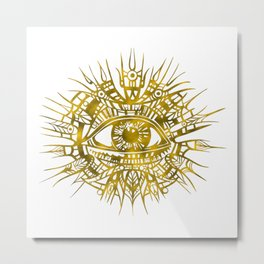 GOLDEN VISIONARY - ALL-SEEING EYE Metal Print