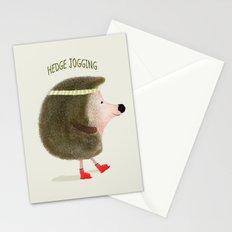 hedge jogging Stationery Cards