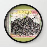 colorado Wall Clocks featuring Colorado by Ursula Rodgers