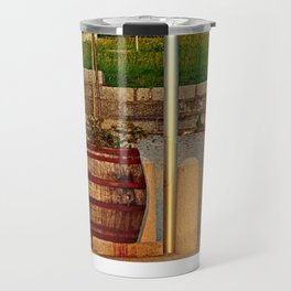 Tree in apple wine barrel | conceptual photography Travel Mug