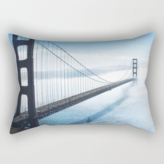 golden gate bridge river Rectangular Pillow