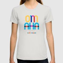 Omaha Nebraska Mid Century, Pop Art, T-shirt
