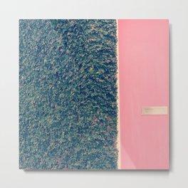 Pink and Green Metal Print