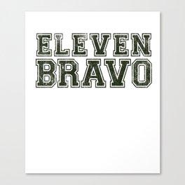 11 Bravo - US Infantry design - U.S. Military products Canvas Print
