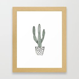 Potted cactus Framed Art Print