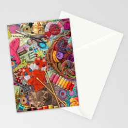 Vintage Yarn & Thread Stationery Cards