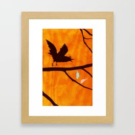 Don't Crow There Framed Art Print