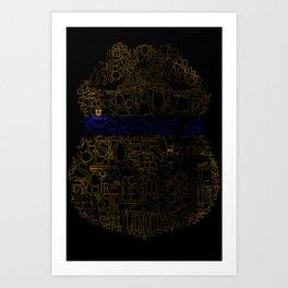 Sgt Badge thin blue line Art Print