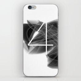 Number 4. Dark Math 4 iPhone Skin