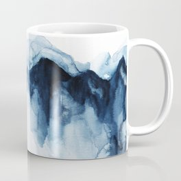 Abstract Indigo Mountains Coffee Mug