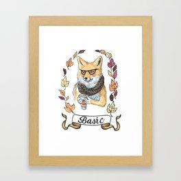 Basic fox Framed Art Print
