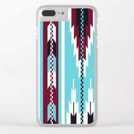 American Native Pattern No. 43 Clear iPhone Case
