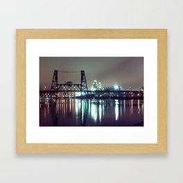 Eerie Steel Framed Art Print