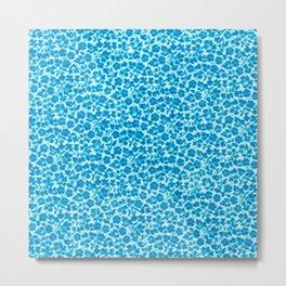Blue Vintage Flowers Metal Print