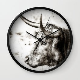 Longhorn Wall Clock