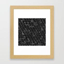 Dotted - Black Framed Art Print