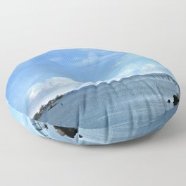 On A Clear Day Floor Pillow