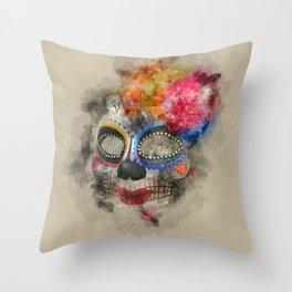 Watercolour Mask Throw Pillow