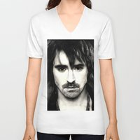 lee pace V-neck T-shirts featuring Pace Lee in watercolors by Fatima Alshaali