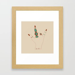 Love Language Framed Art Print