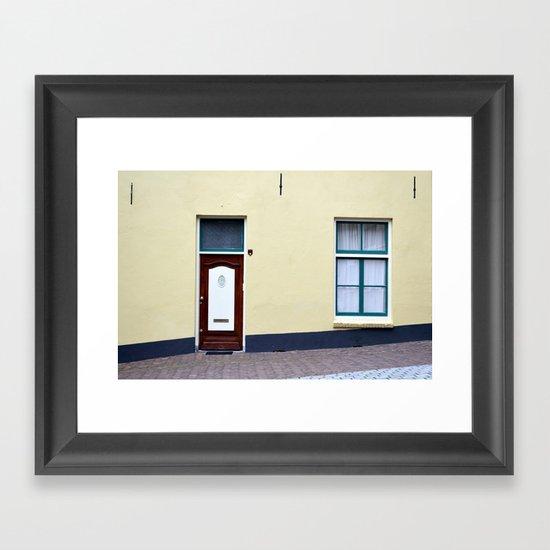 Dutch door and window Framed Art Print