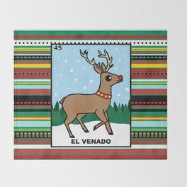Christmas Loteria El Venado Throw Blanket
