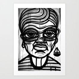 BOY WITH BOAT Art Print