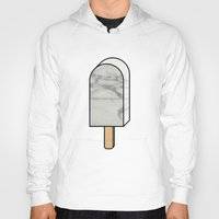 white marble Hoodies featuring White marble ice lolly by lllg