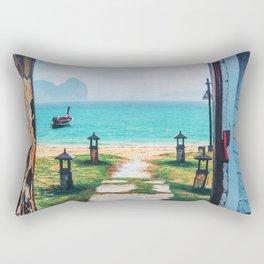 Doors to paradise Rectangular Pillow