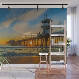Cold Sunset Wall Mural