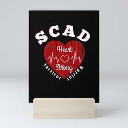 SCAD Heart Attack Women Survivor Heart Strong Mini Art Print