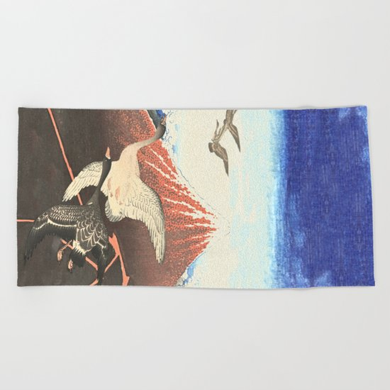 Over the mountain Beach Towel