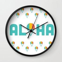 Aloha Shave Ice Wall Clock