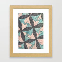 Square Flower Framed Art Print