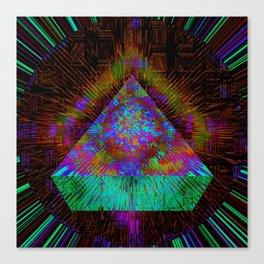 Green Pyramid Landing Canvas Print