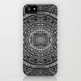 Zentangle Mandala Black and White iPhone Case