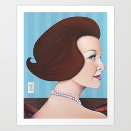 girl with pearls Art Print
